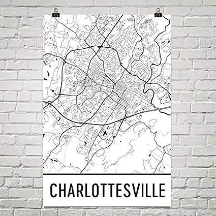 Amazon.com: Charlottesville Poster, Charlottesville Art Print ... on