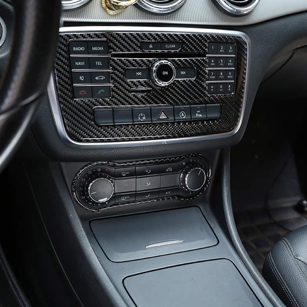 DIY Carbone V/éritable fibre de carbone pour Benz GLA CLA Classe A W176 A180 X156 C117 2013-18 Anneau d/écoratif pour interrupteur de climatisation