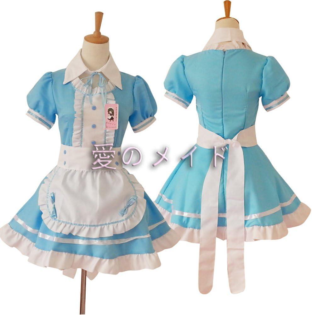 traje sirvienta japonesa azul