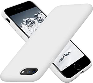 Cordking iPhone Case 8 Plus, Silicone Ultra Slim Shockproof Phone Case with [Soft Anti-Scratch Microfiber Lining], 5.5 inch, White
