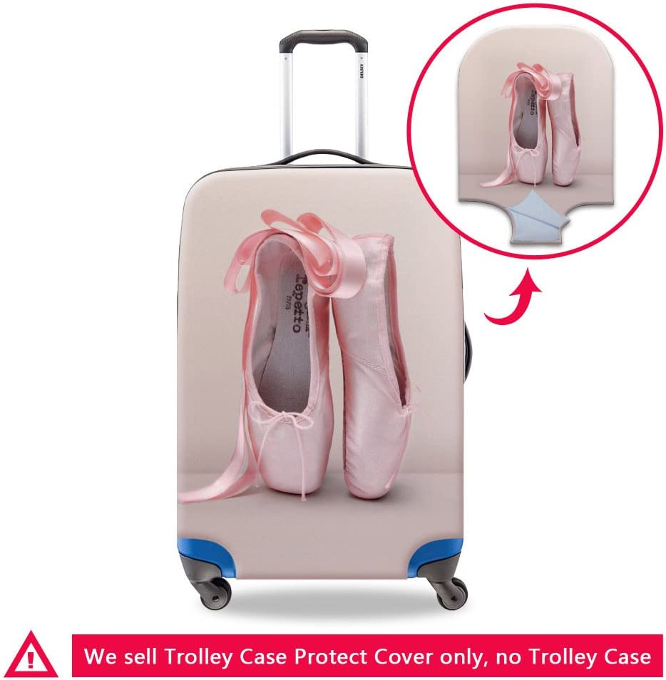 Generic Ballet Gilrs Travel Luggage Cover Fits 18-30 Inch Suitcase Cover Protective Bag