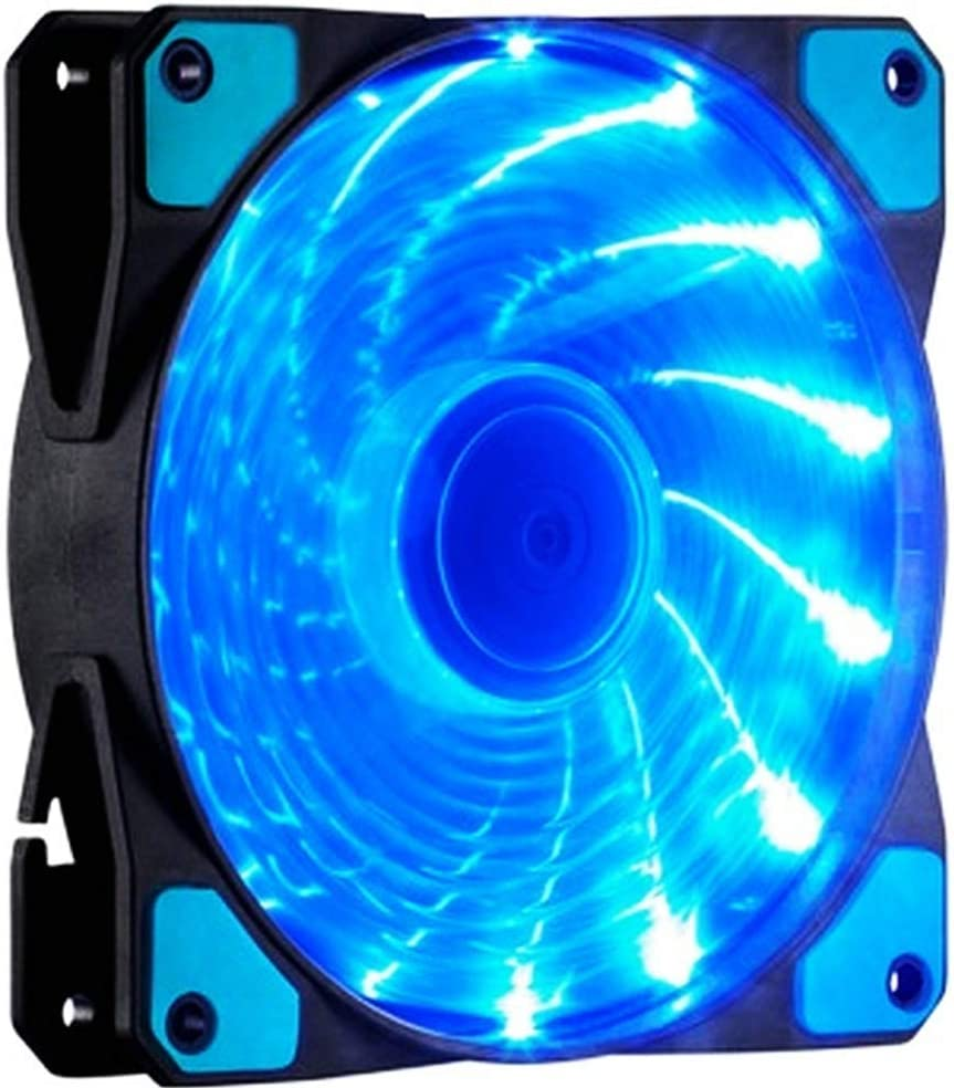 Studyset 12CM 120mm Red 15 LEDs Lights Fan Cooler Case PC Computer Cooling Tool Green Quiet Durable Fans Enhance Performance of Tower