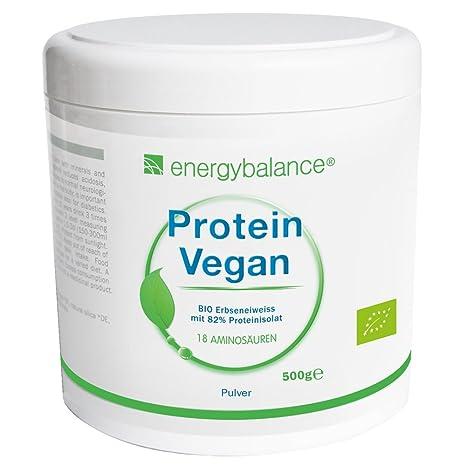 Proteína de guisantes orgánico y en polvo  Proteína vegana   82% de proteína aislada