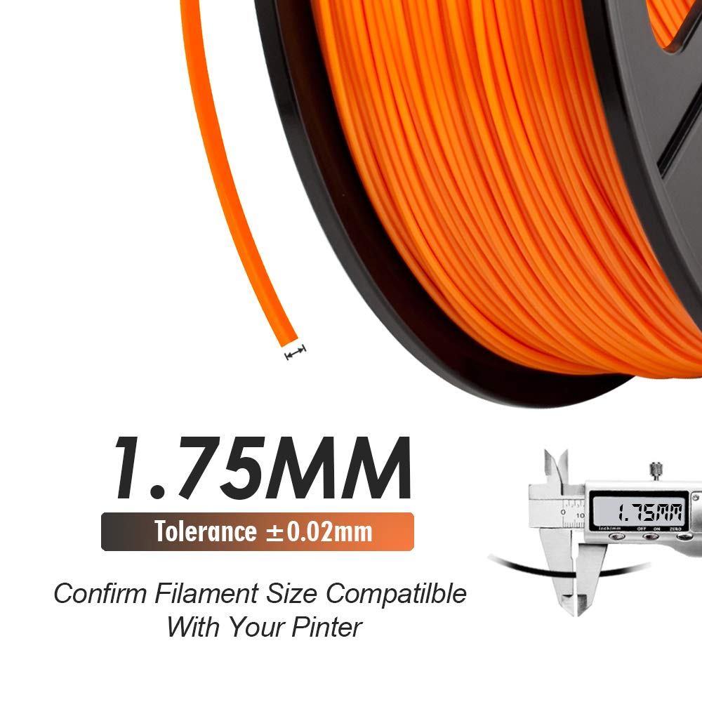 Dimensional Accuracy +//- 0.02 mm 2.2 LBS SUNLU 3D Printer Filament PLA 1.75mm PLA Filament 3D Printing Filament Low Odor 1KG Transparent PLA Spool 3D Filament for 3D Printers /& 3D Pens