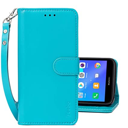 Flip Cases for Huawei Y5 2018/Y5 Prime 2018, PU Leather Magnetic Closure Wallet Phone Cases [Kickstand Feature] with Card Slots Wrist Strip Phone ...