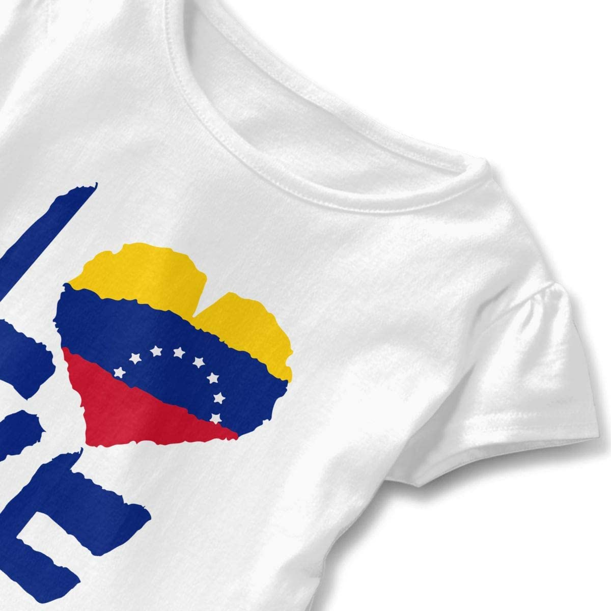 HYBDX9T Toddler Baby Girl Venezuela Flag Funny Short Sleeve Cotton T Shirts Basic Tops Tee Clothes