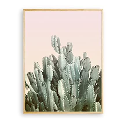 Hello Gorgeous Wall Art Modern Cactus Print Cactus Wall Art Pink