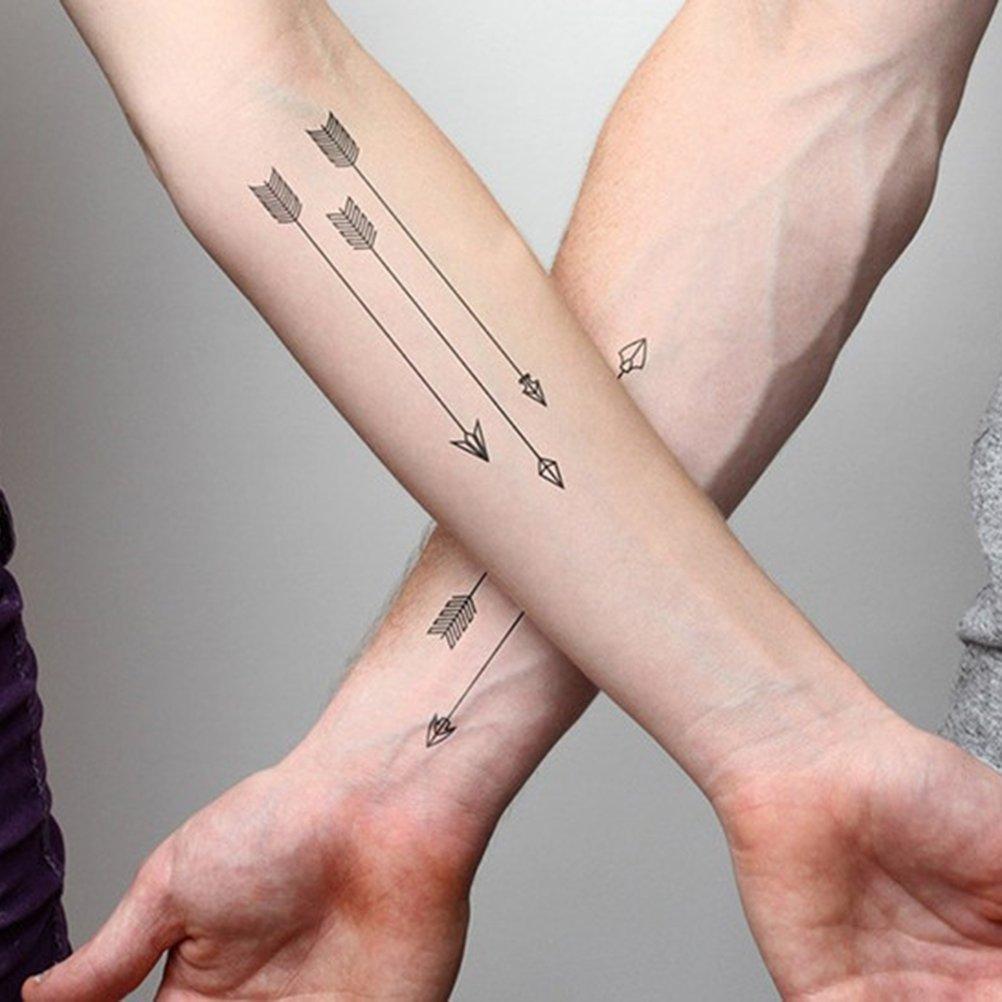 Amantes Harajuku Impermeable Falso Tatuaje Hombre Mujer Brazo ...