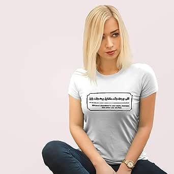 تي شيرت كاجوال للنساء , مقاس XL , ابيض