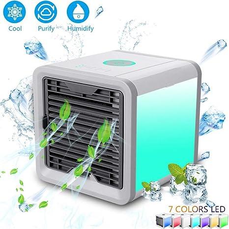 FOOSKOO FAN Aire Acondicionado Portátil Air Cooler Refrigerador de ...