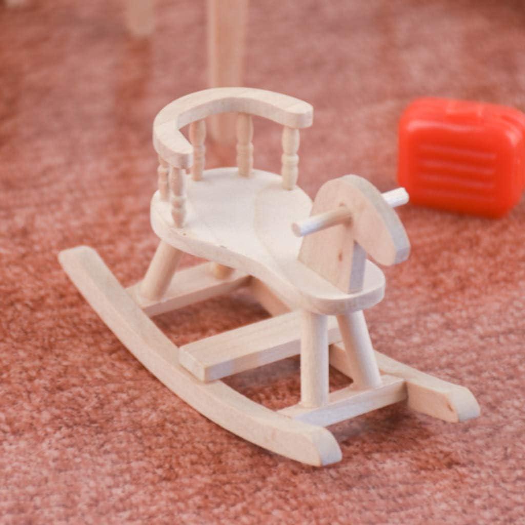 SM SunniMix 1//12 Miniature di Casa delle Bambole a Cavallo del Gallo Non Verniciato Decorazione della Camera da Letto di Mobili in Legno