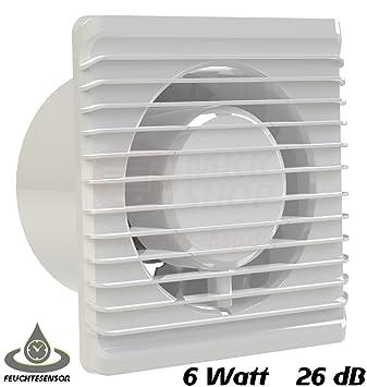 Ventilatore da bagno, diametro 100 mm, con sensore di umidità ...