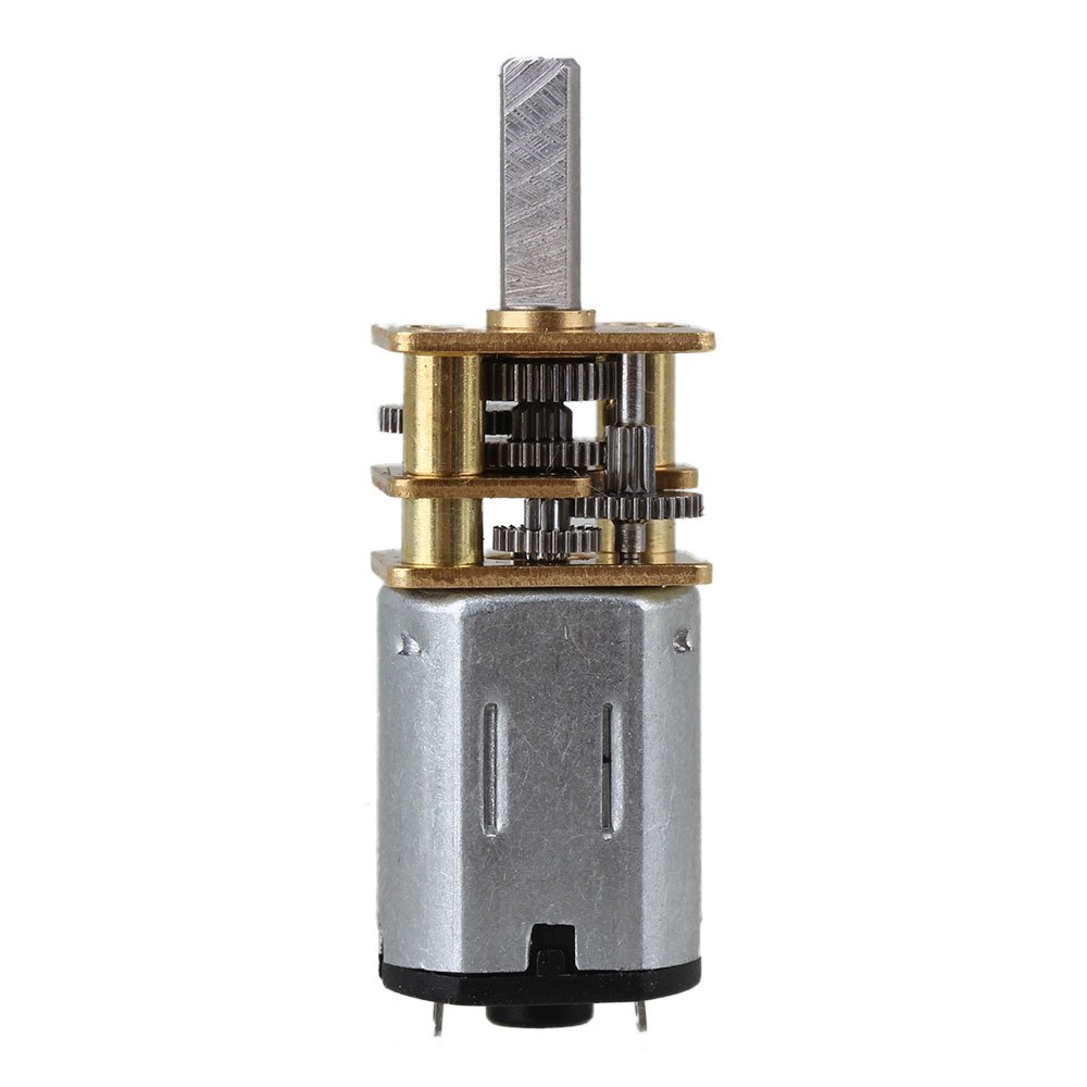 plateado 15 rpm BQLZR 33 x 12 mm plata Metal Mini DC 3 V caja de cambios Gearwheel Motor Mini reducir velocidad Geared El/¨/¦ctrico N20 Motor con 3 mm eje Dia