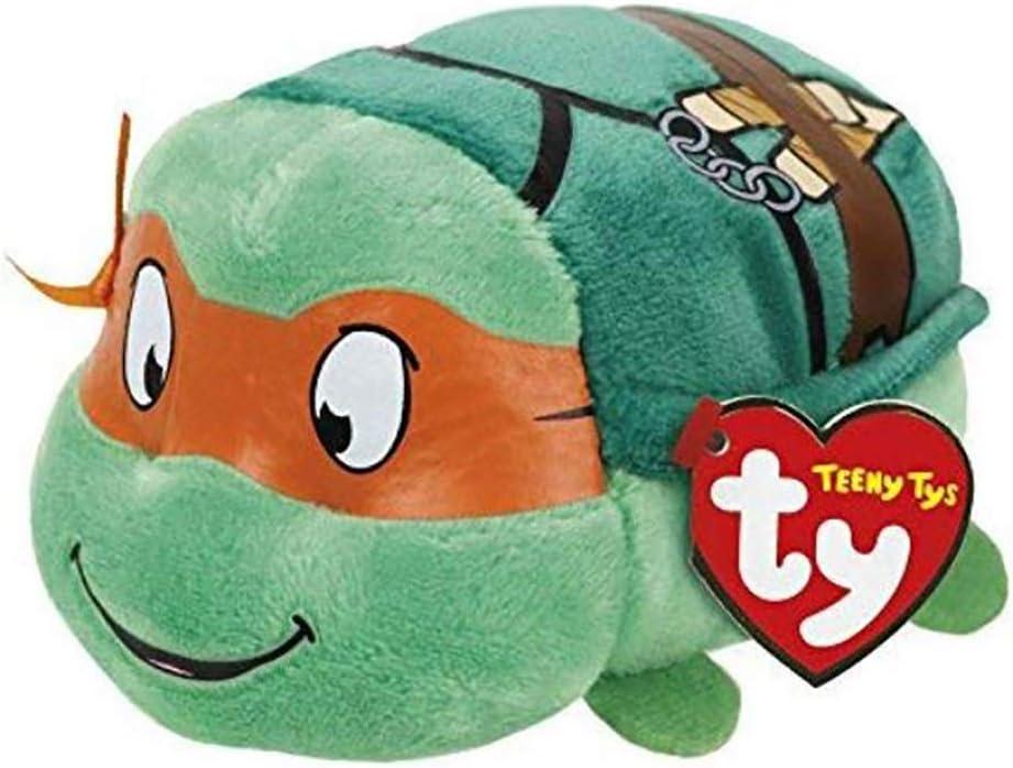 Ty Teeny Tys Ninja Turtle Michelangelo Stuffed Animal Small 4