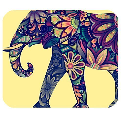 Mat With Aztec Elephant Image Cloth Personalized Custom Gaming Mouse Pad Rubber Durable Computer Desk Stationery Accessories Mouse Pads For Gift