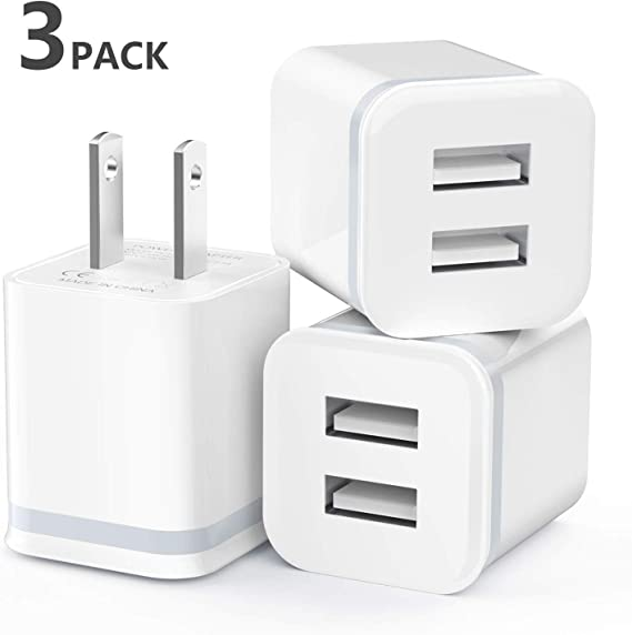 Dual 2 USB Home Wall AC Charger Adapter 2.1A for Apple IPhone Samsung HTC LG