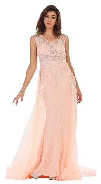 Formal Dress Shops Inc Fds7469 Red Carpet Evening Gown Amazon