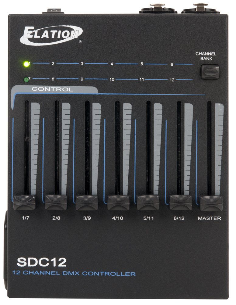 ADJ Products SDC12 Basic Manual 12-Channel DMX Controller Utilizing 6 Faders with Two Bank Button for Complete Control