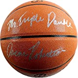 Oscar Robertson Signed I/o Orange Basketball W/ Mr Triple Double Insc Psa/dna