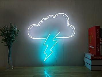 Aoos thunderbolt lightning cloud boulon neon sign pour chambre à