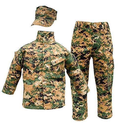 Kids USMC 3 pc Woodland Camo United States Marine Corps Uniform (Large 14-16) -