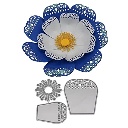 Flower Cutting Dies Stamps Cut Die Photo Card Making Embossing Flowers Template