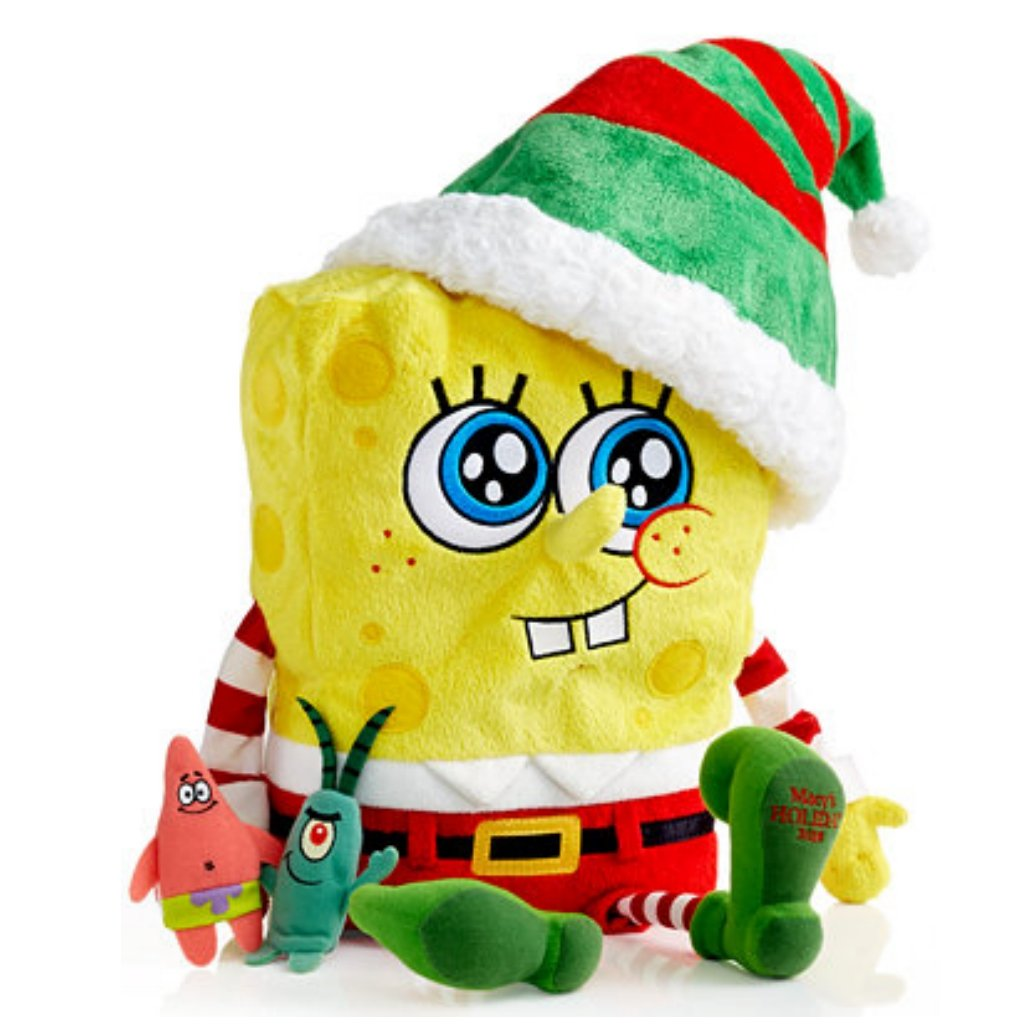 2014 Macy s Thanksgiving Day Parade Holiday Spongebob Square Pants Toy with Finger Puppets