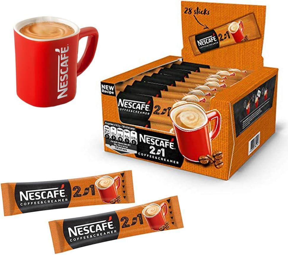 224 sobres x cafetera Nescafe 2 in1 cremosa UE fabricado largo ...