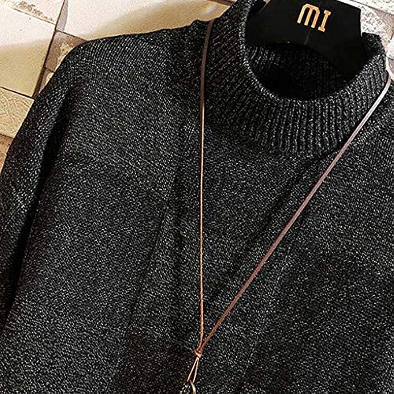 Andouy męski sweter Slim Fit Sweater Casual Rollkragen Pullover Knitted Sweaters z prążkowaną krawędzią: Odzież