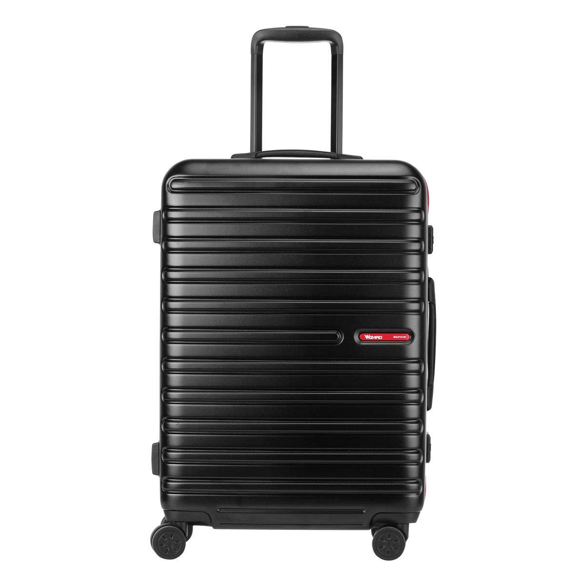 [サンコー] スーツケース ウィザードM 58L 60cm 4.6kg WIZM-60  ブラック/レッド B07KKLJ7K5
