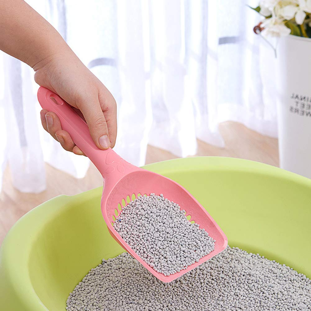 JYS365 Cat Litter Scoop Plastic Pet Care Sand Waste Scooper Shovel Hollow Cleaning Tool Random Color Small Hole# by JYS365 (Image #4)