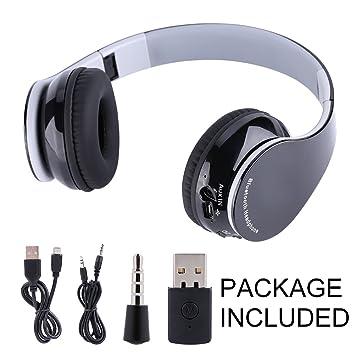 VBESTLIFE Auriculares Gaming Estéreos de Alta Fidelidad Inalámbricos Plegables de Bluetooth4.1, Auricular del Juego con Micrófono para PS4 (Gris)
