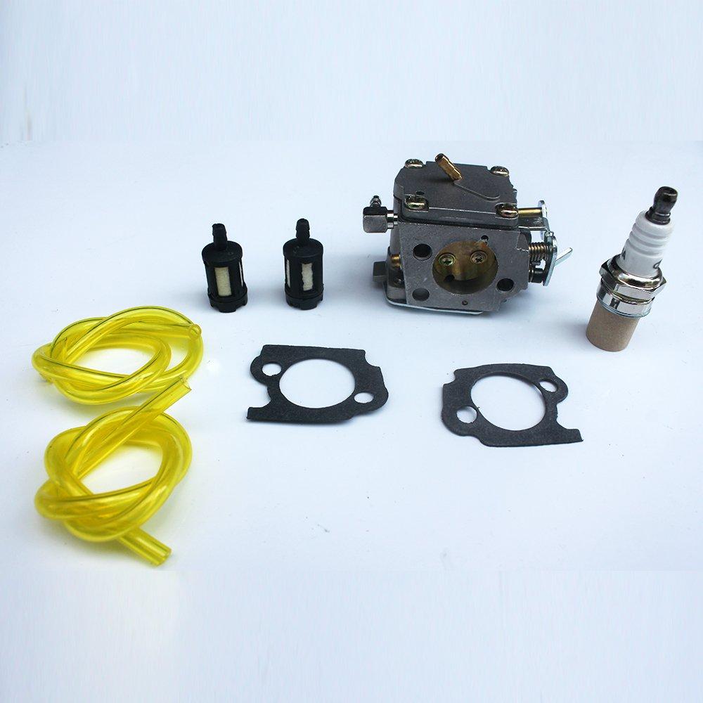 Amazon.com: KIPA Carburetor spark plug Fuel Filter kit For Stihl 041 041AV  041 Farm Boss Gas Chainsaw # 1110-120-0609 with Mounting Gaskets: Garden &  ...