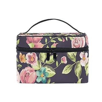 4bd6d5a2f140 Amazon.com : Makeup Train Cases Classic Wallpaper Vintage Flower ...