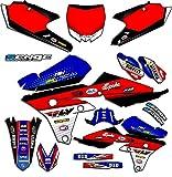 Senge Graphics 2000-2008 Yamaha TTR 90, Ricochet Blue Graphics Kit
