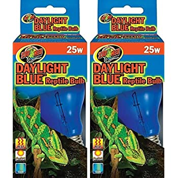 Amazon Com Zoo Med Daylight Blue Reptile Bulb Set Of 2