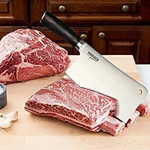 Heavy duty cleaver - Meat cleaver & kitchen knife - 7 inch butcher knife