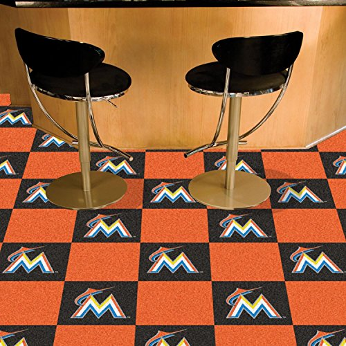 Mlb Baseball Team Logo Themed 59 X 88 Area Floor Rug: Miami Marlins Carpet, Marlins Carpet, Marlins Carpets