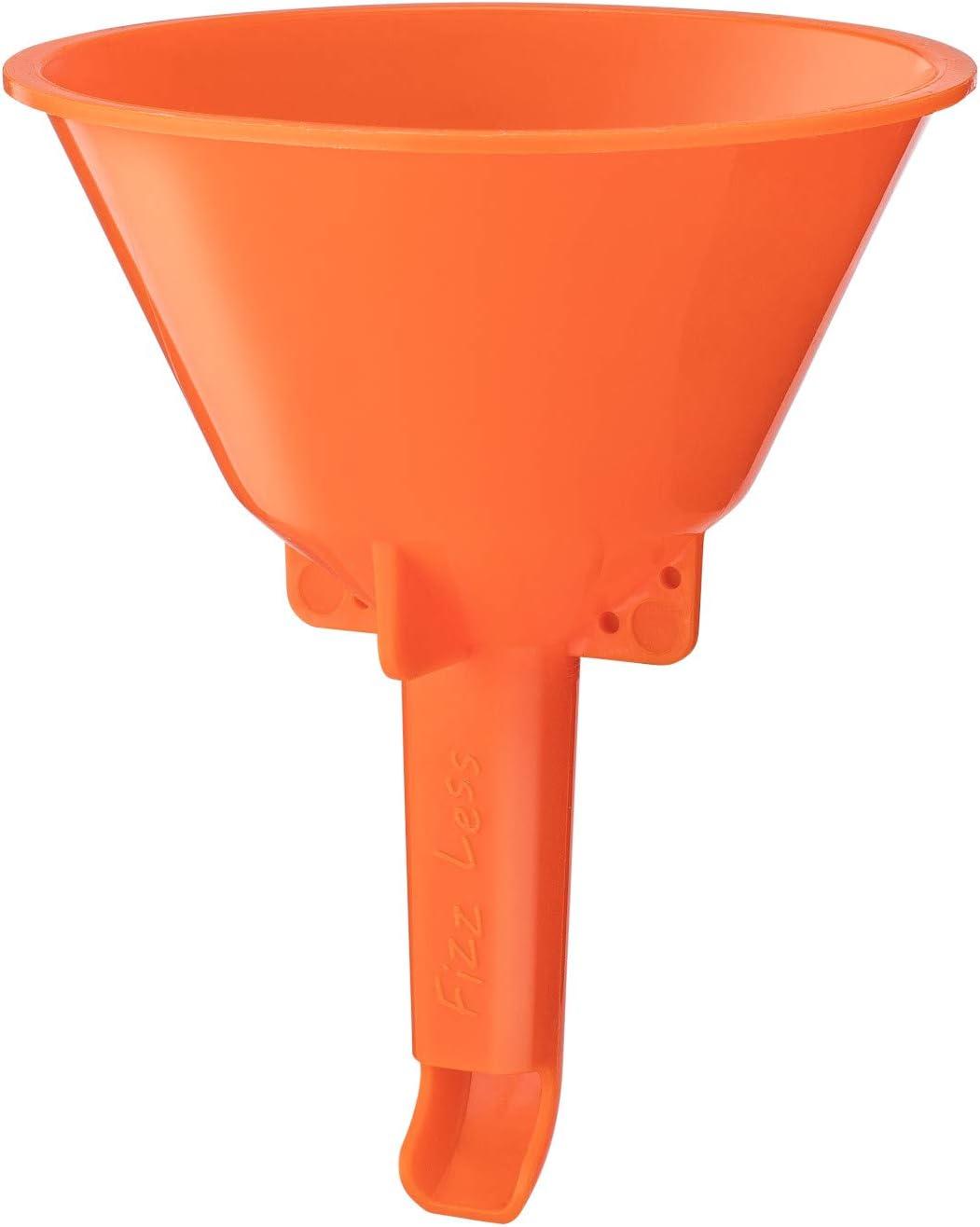 Fizz Less Bottling Funnel | Reduce Foaming Significantly when Filling Bottles | Homebrew Beer, Kombucha, Jun, Kefir, Soda | Grolsch-Style Flip Top, Swing Top, Glass Bottles