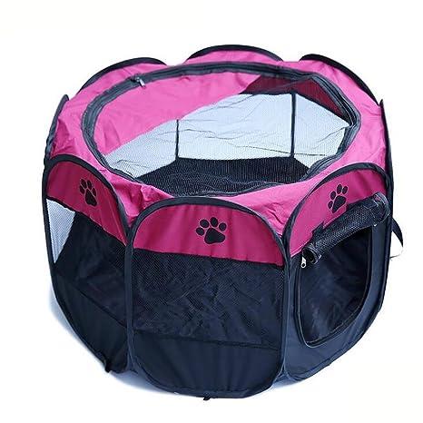 Myyxt Parque para Cachorros recinto Parque para Animales Hecho de 600D Oxford Tela/PVC Malla