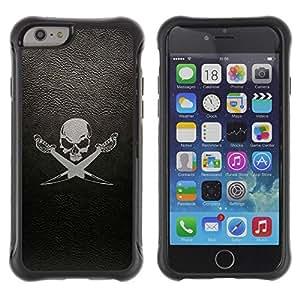 Suave TPU GEL Carcasa Funda Silicona Blando Estuche Caso de protección (para) Apple Iphone 6 / CECELL Phone case / / cherep sabli fon /