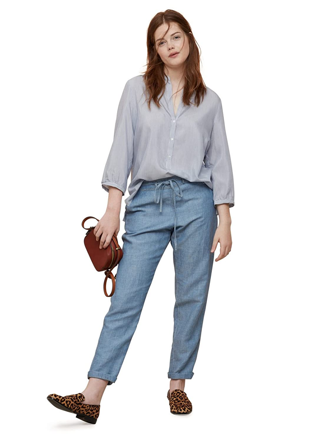 VIOLETA (Plus Size) - Chino-fit Jeans Baggy surijeans - Size:22 - Color:Light Blue