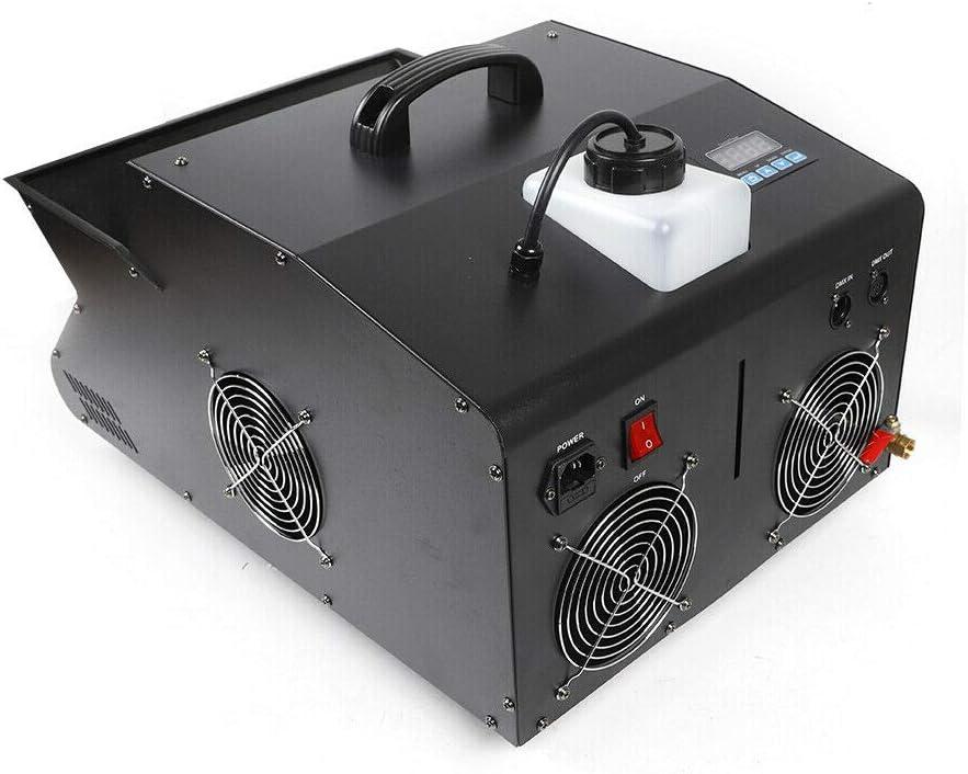 Aohuada Máquina de niebla de 3000 W + mando a distancia DMX 512 9 LED Niebla Máquina de pompas de jabón Fog Bubble mando a distancia inalámbrico emisiones de niebla DMX control 3 en 1 LED RGB