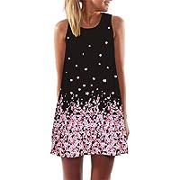 MTX Ltd Cuello Redondo Impreso Digital Suelta Vestido
