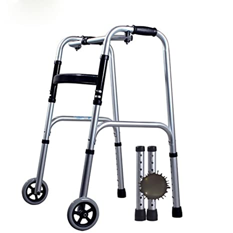 QIAN De aluminio polea rehabilitación ancianos andador ayuda ...