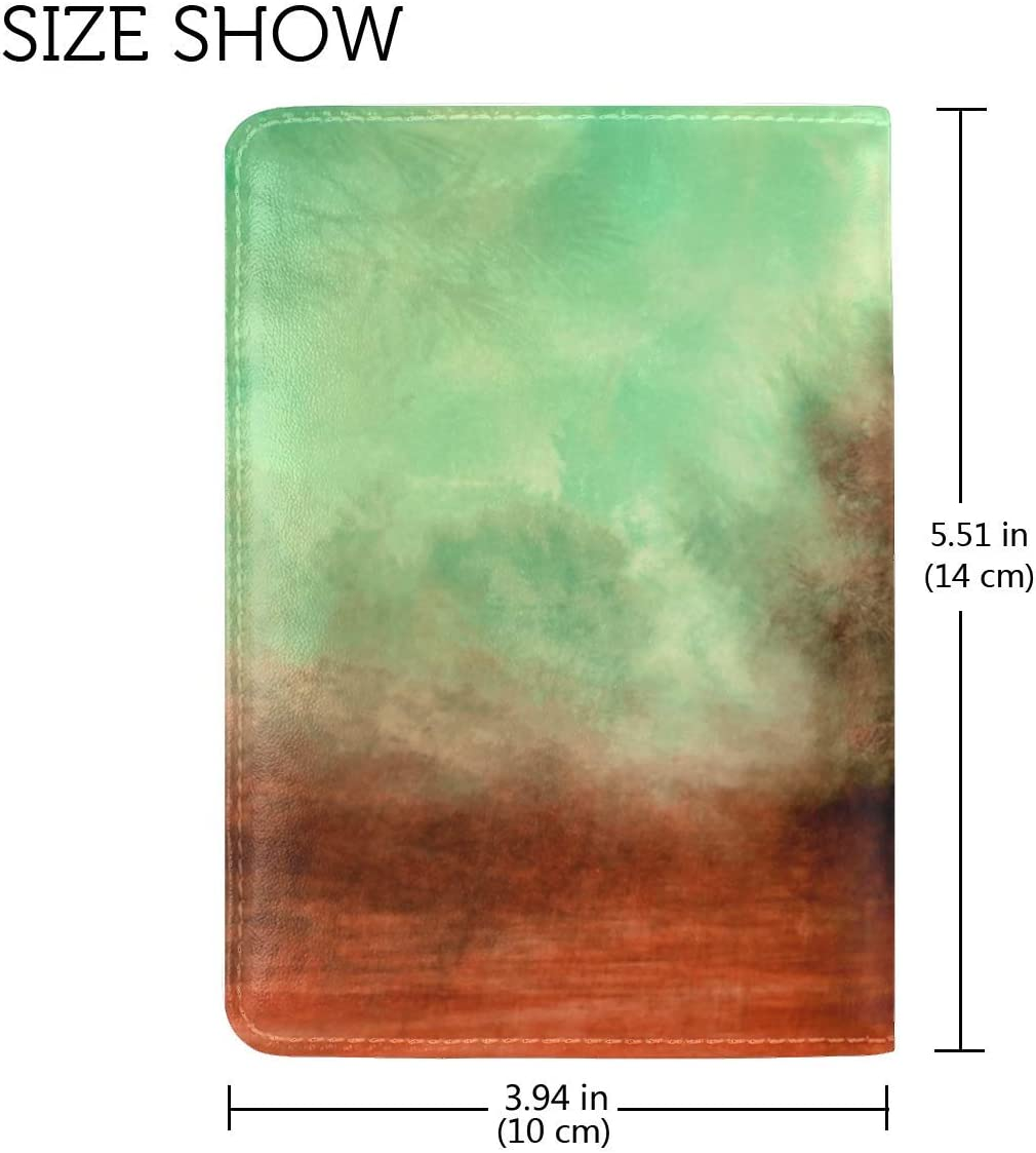 JiaoL Tree Outlines Paint Leather Passport Holder Cover Case Travel One Pocket