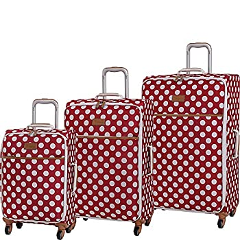 Image of Luggage it luggage Summer Spots 3 Piece Lightweight Expandable Spinner Luggage Set