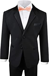 b8f37db783a Black n Bianco Boy s Modern Tuxedo Dresswear Set