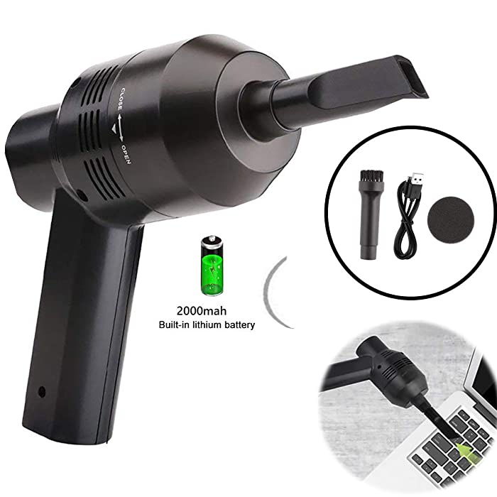 Keyboard Cleaner Powerful Rechargeable Mini Vacuum Cleaner,Cordless Portable Vacuum-Cleaner Tool for Cleaning Dust, Hairs, Crumbs, Scraps for Laptop, Piano, Computer, Car, Makeup Bag, Pet House