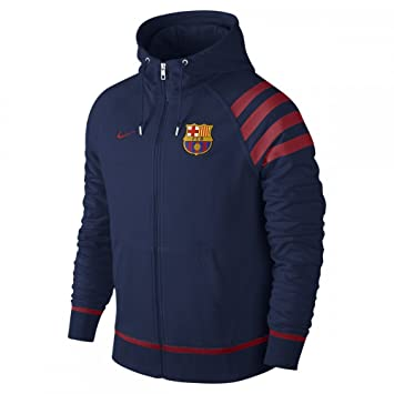 9147d85509844 Nike FCB Auth Aw77 FZ Hoody - Sudadera Fútbol Club Barcelona 2015 2016 para  Hombre